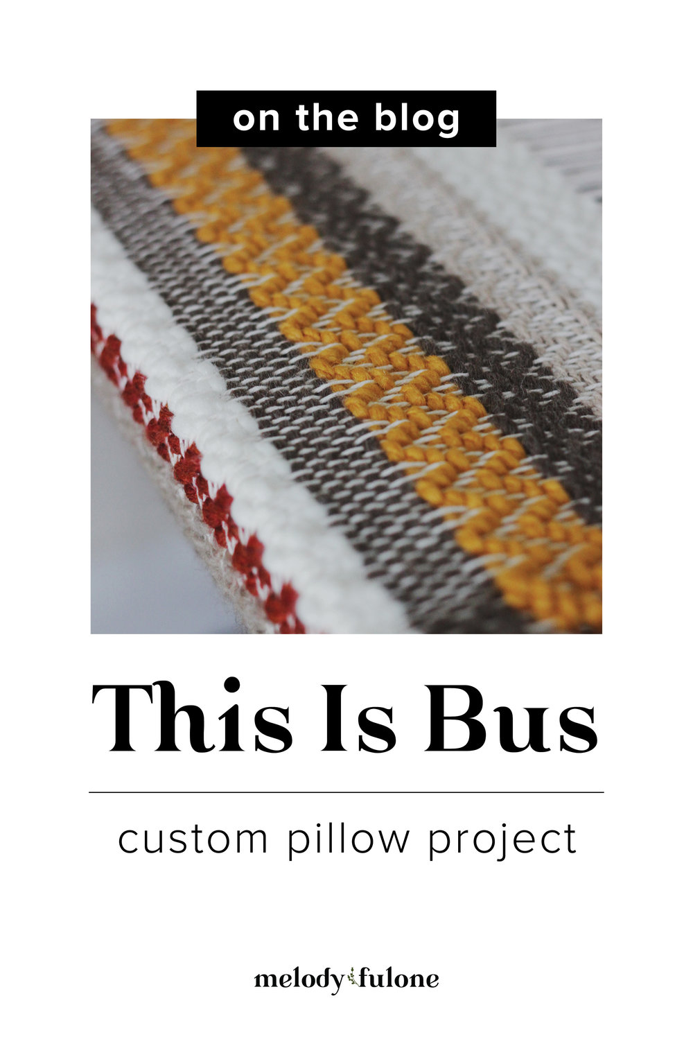 This Is Bus Pillow Project