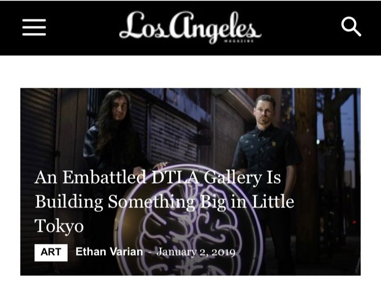 Click image to read our profile in LA Magazine.