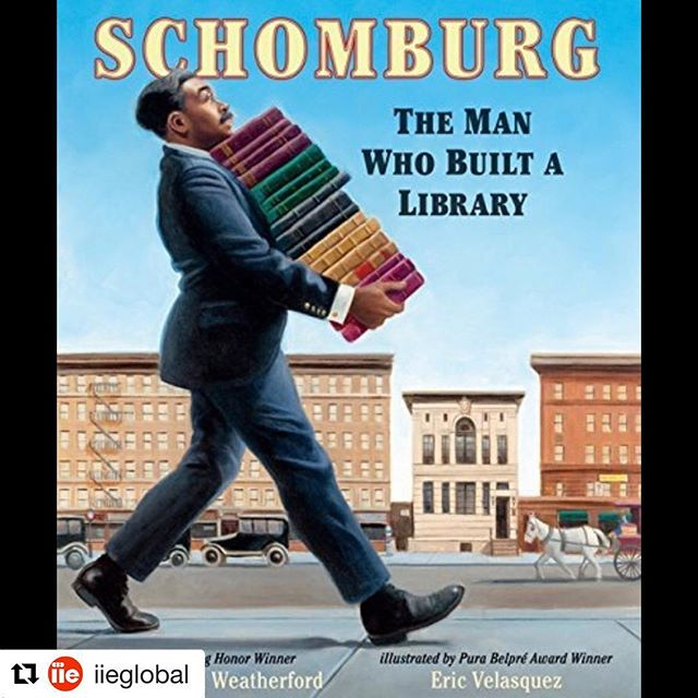 Has anyone else been to the @schomburgcenter for research in Black Culture? I've found their programming to be great for scholars and families alike! So glad that there's a book out there honoring the man who started the collection that evolved into an institution! #representationmatters #diversechildrensbooks #Repost @iieglobal with @get_repost ・・・ As a child in Puerto Rico, Arturo Schomburg was told that black people have no history. As an adult, he'd travel to  New York, Cuba, England, France, Germany, and Spain to learn about and create a collection of 10,000 pieces of literature, art, slave narratives and manuscripts from the global African Diaspora. ・・・ His collection evolved into the present-day Schomburg Center for Research in Black Culture in Harlem, NY, a national historic landmark that houses 11 million items that document the global histories, accounts, and achievements of people of African descent. ・・・ #BHM #BlackHistoryMonth #BHM2018 #internationalexchange #internationaleducation #intled #arturoschomburg #afrolatinx #schomburgcenter #globaled