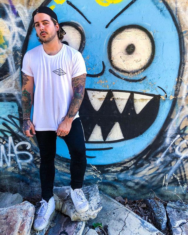 My dude @mikeygyo sent me this dope pic in the White Diamond tee from his @savagehandsmd tour! Make sure to check their dates and hit a show! . . .  #Swingset #swingsetstyle #style #cityofgoons #clothing #streetwear #shirts #hats #rad #shop #art #clothes #stickers #design #graffiti #indie  #art #craftbeer #tattoo #music #tattoos #maryland #swingsetclothing #retro #fashion #bmx #skateboarding #motocross #goon