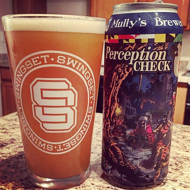 "Crushing some @mullysbrewery Perception Check in our ""SS Seal"" Pint Glass! . . . .  #Swingset #swingsetstyle #style #cityofgoons #clothing #streetwear #shirts #hats #rad #shop #art #clothes #stickers #design  #indie  #art #craftbeer  #music #tattoos #maryland #bmx #skateboarding #motocross #beerpics"