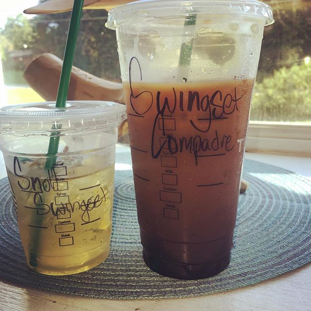 When @starbucks knows you and your little man all too well. Cold Brew and Apple Juice for the Win. #dailygrind