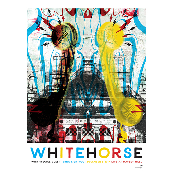 Whitehorse Live at Massey Hall 2017 18x24 Poster. Designed by Odelay Designs. Pick Up Option Available