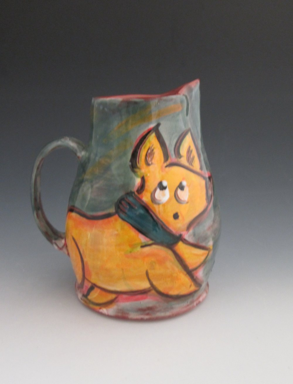 Yellow dog pitcher