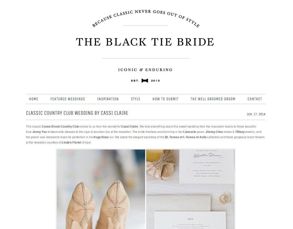 Cassi Claire Black Tie Bride