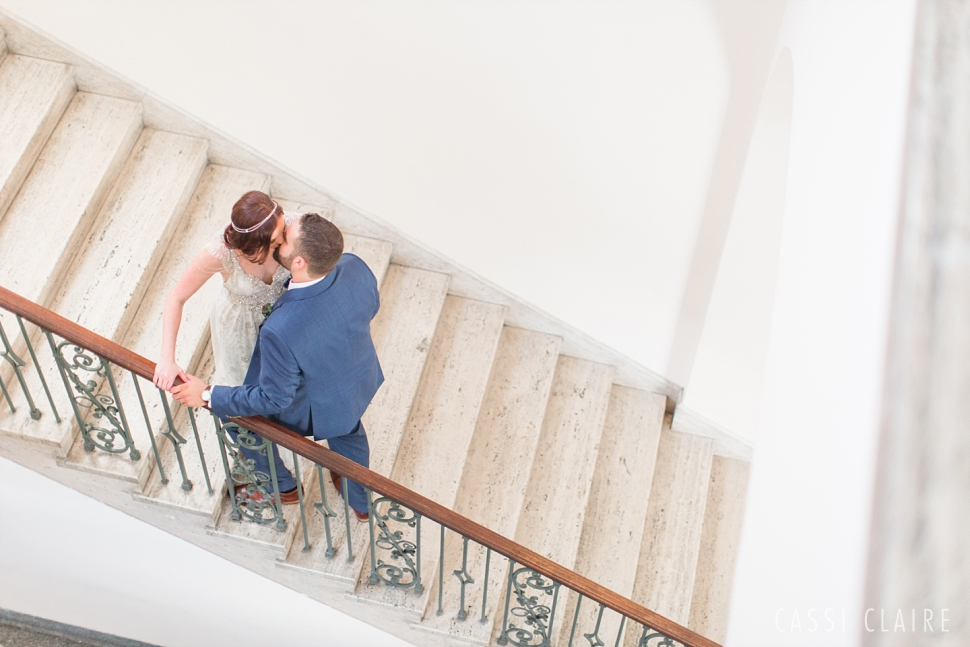 Manhattan College wedding staircase