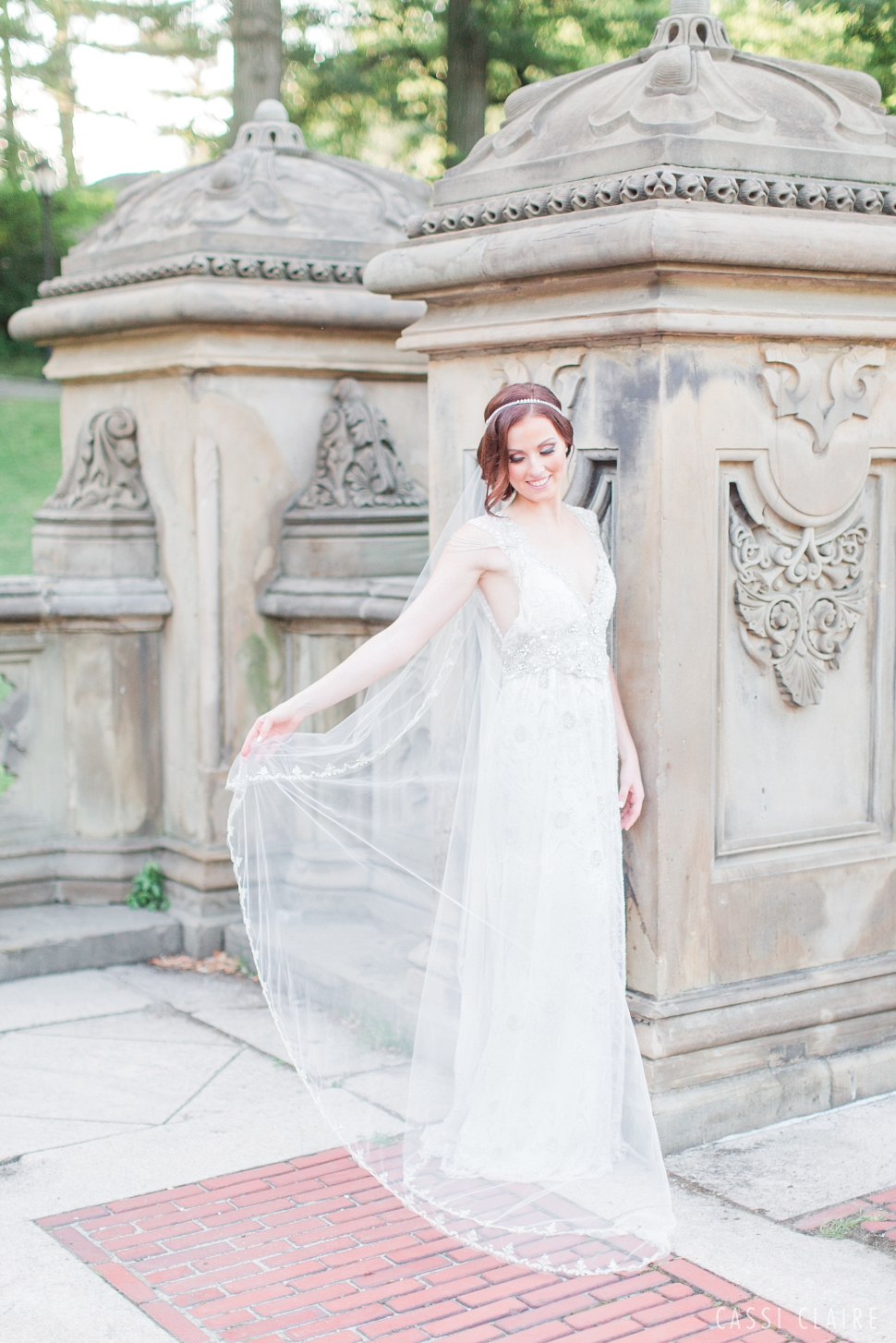 bride at bethesda terrace