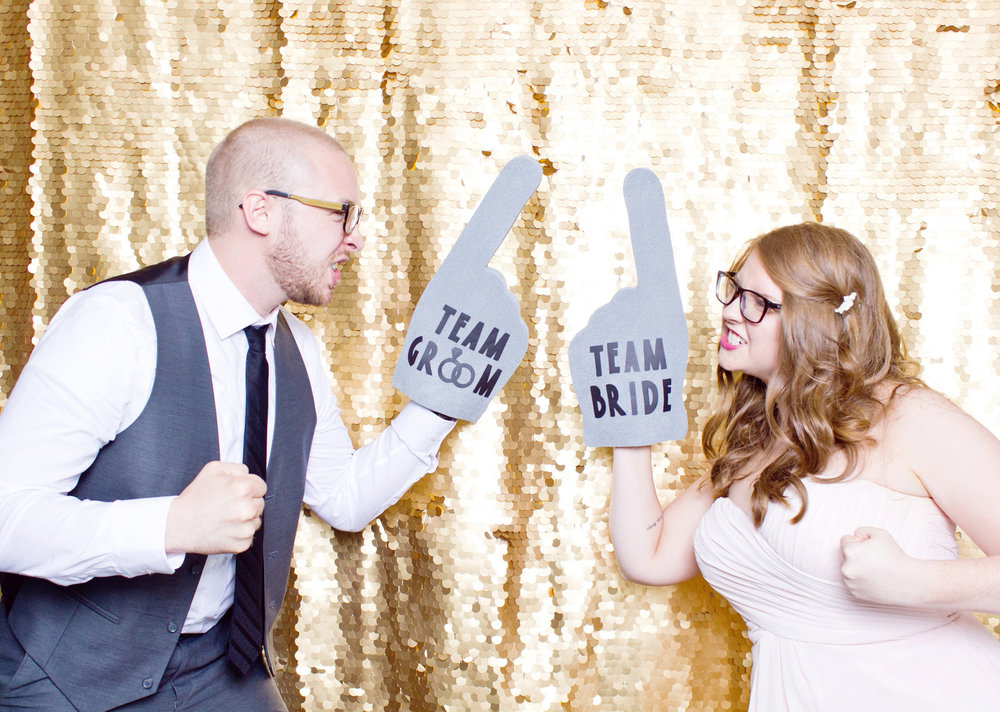 funbooth - a modern open-air photo boothwith a professional attendantstudio lighting makes everyone look amazingchoice of gold sequin or classic white backdropcomplimentary high-res downloads for alluploaded within two weeks of wedding*exclusively for #CassiClaireCouples