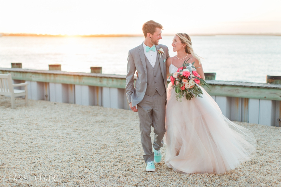 avalon yacht club sunset wedding