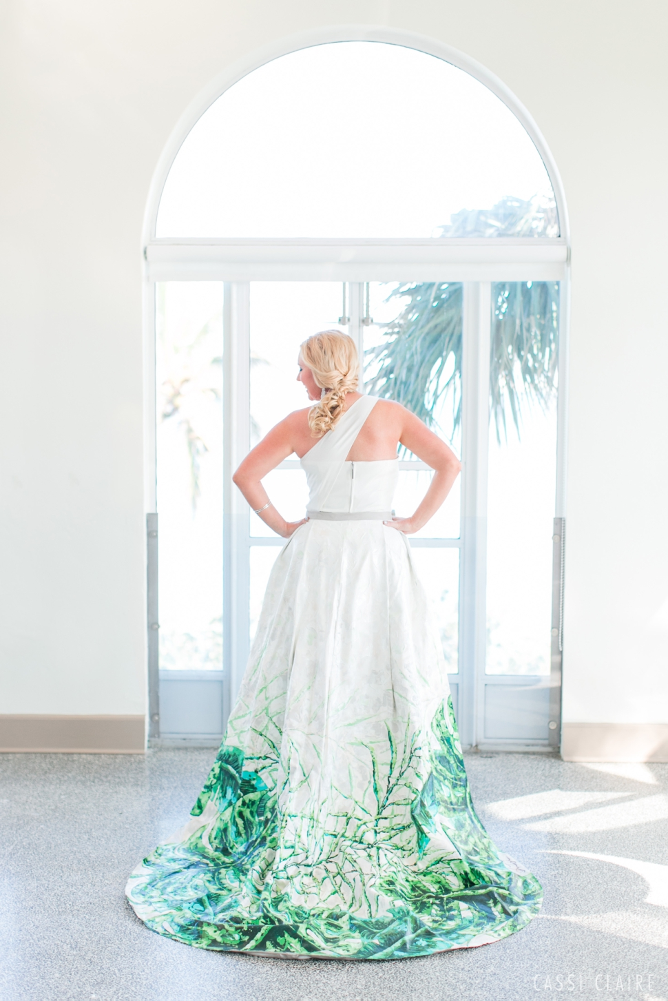 hand painted wedding gown