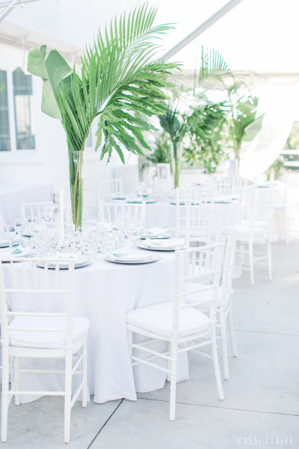 tropical palm beach wedding
