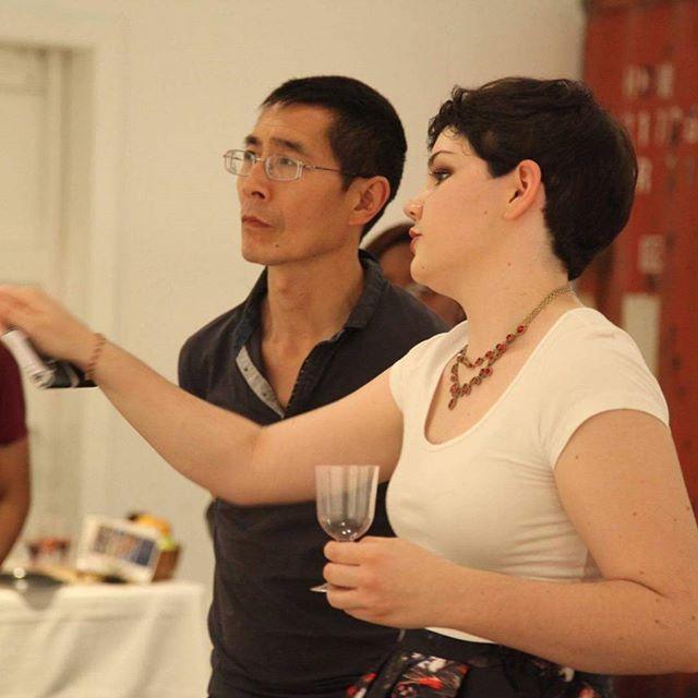 Melissa Teoman explaining her work.  #artexhibition #artshow #artist