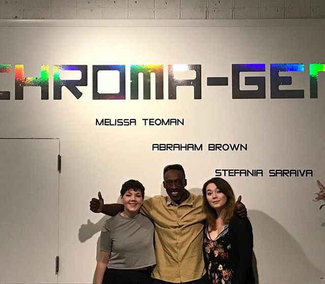 Chroma-gen was a huge success. Congratulations to Stefania Saraiva, Melissa Teoman and Abraham Brown. #artexhibition #artshow #art