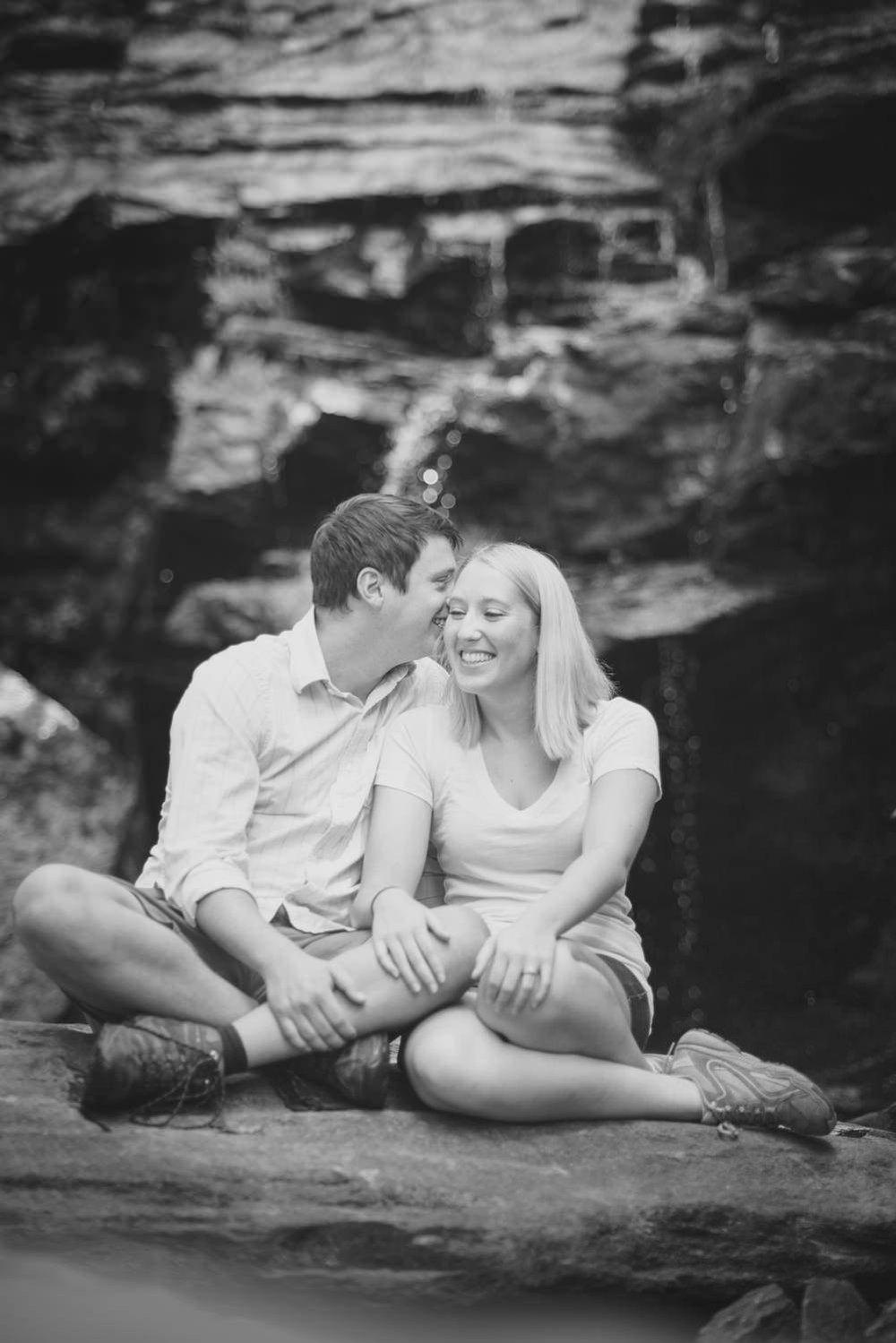 Clemson SC Issaqueena Falls Engagement