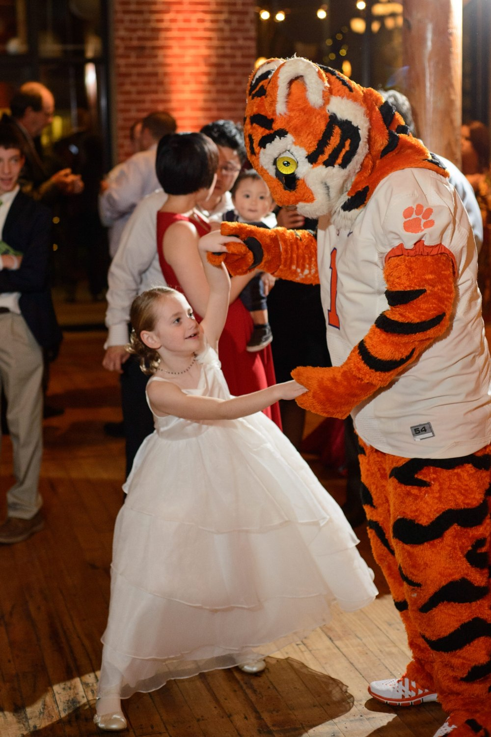 Clemson Tiger at Wedding