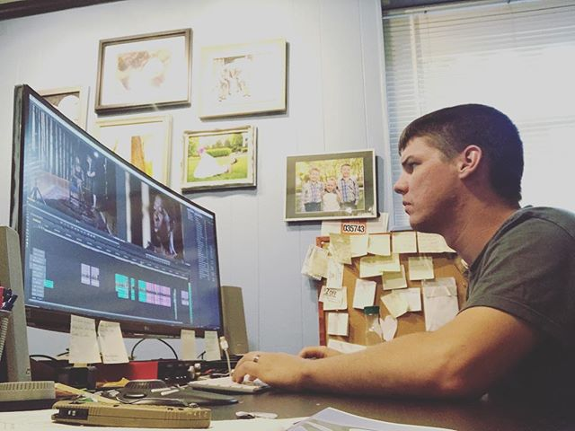 Editing away. #videolife #yeahthatgreenville #greenvillevideographer