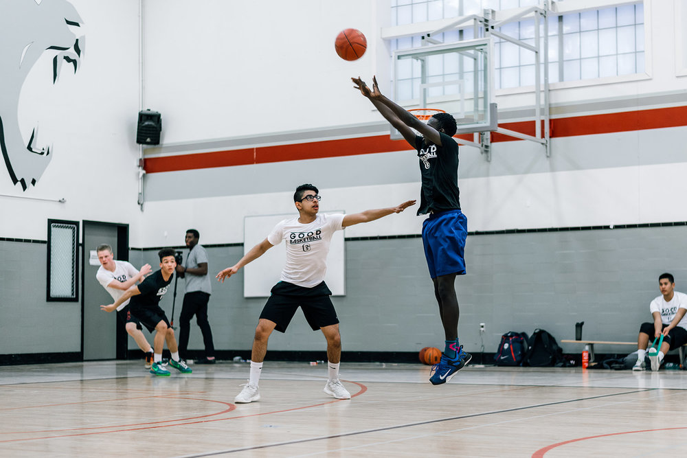Opening Camp - Kwaj Jok with a jumper during the 2017 16U Season Opening Camp with Coach Billy Boidock.