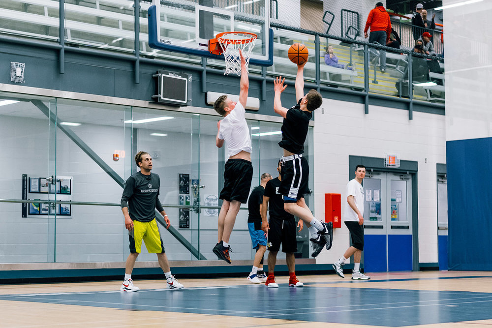 Opening Camp - Carsten Ritter going to the rim during the 2017 17U Season Opening Camp with Coach Billy Boidock.