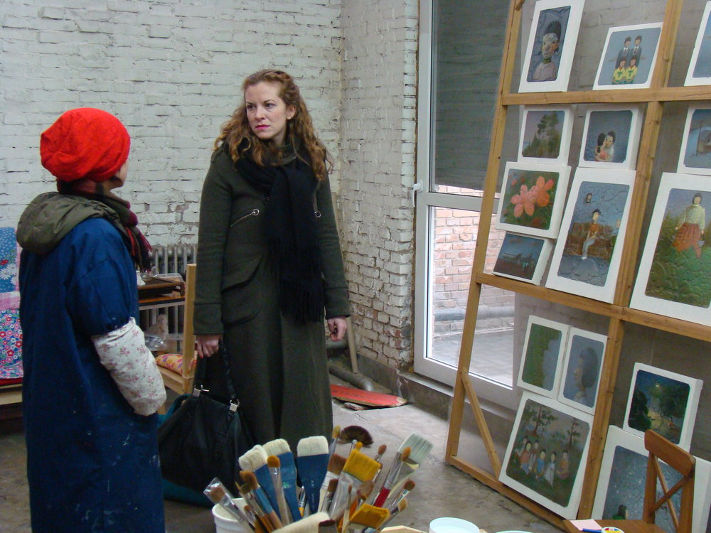 meeting in the artist's studio