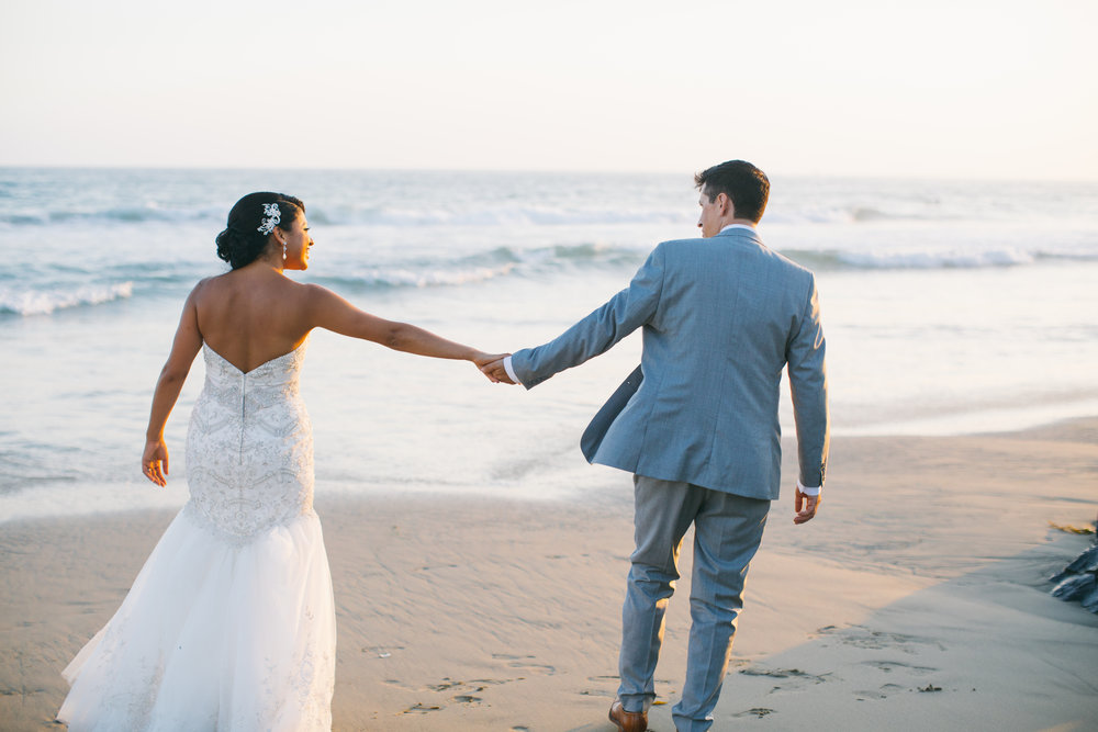 Lilia and John's Malibu Beach House Wedding