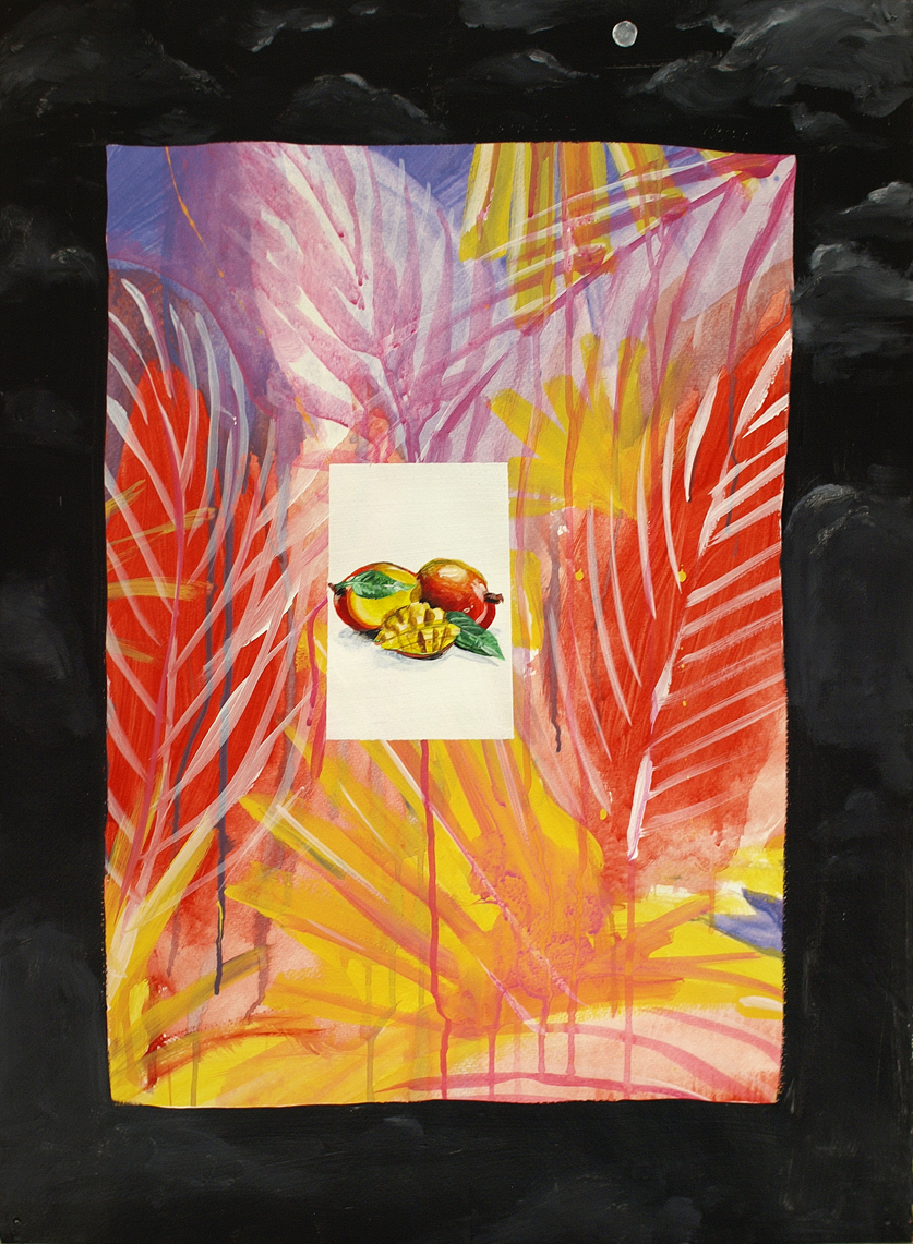 acrylic on paper  12x45 cm  2016