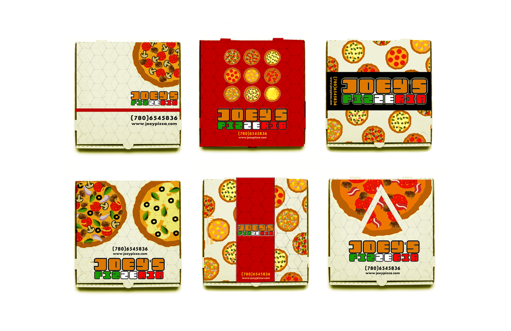 Joey's Pizza takeout boxes