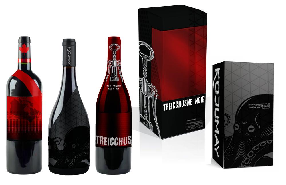 Wine Bottles + Packaging