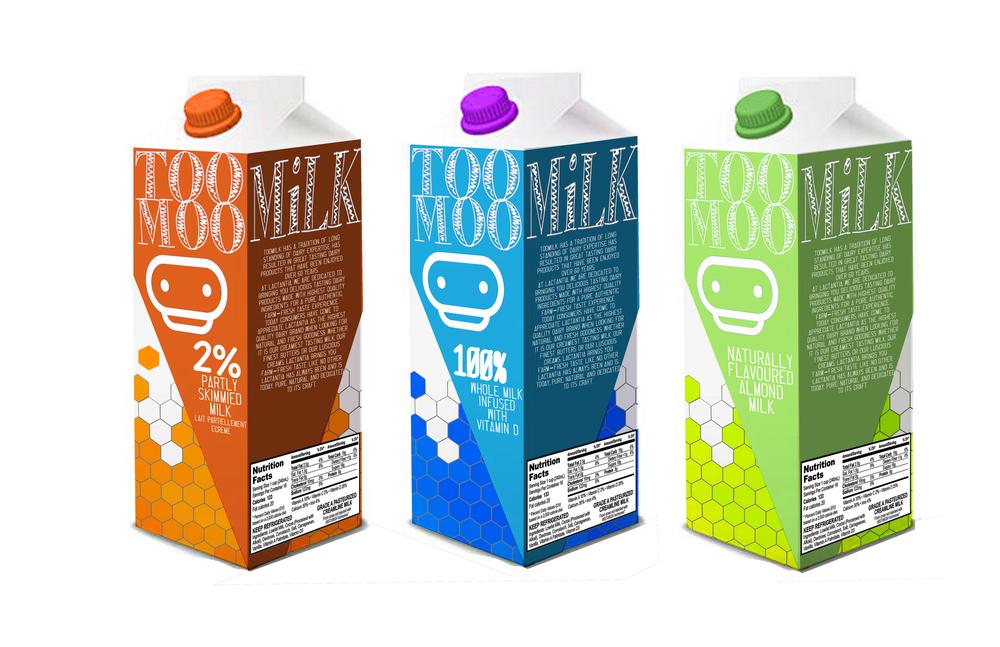 Too Moo Milk Carton packaging