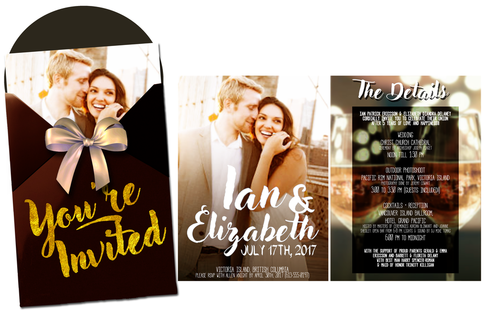 Ian & Elizabeth Wedding | Invitation