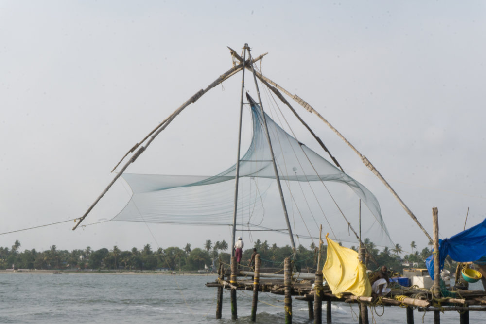 Fishing nets near Fort Kochi