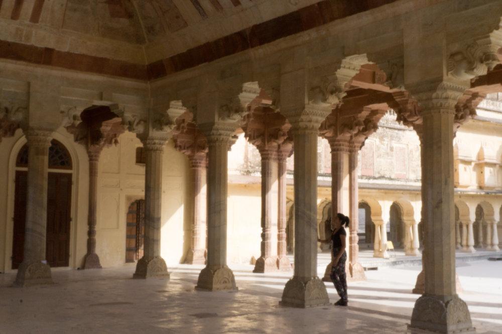 Sari exploring the fort