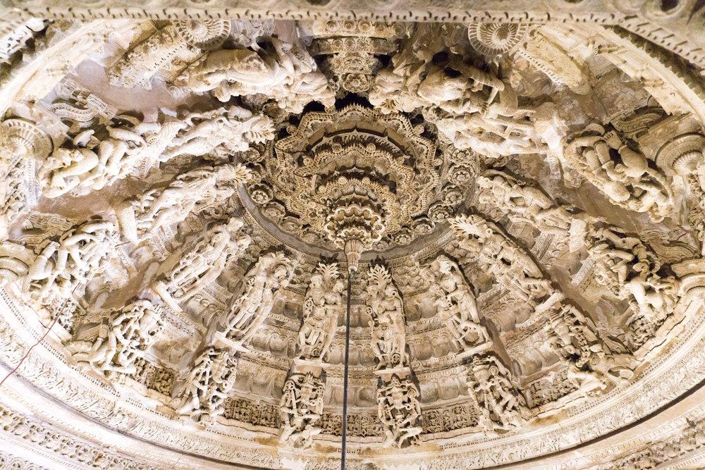 Ceiling of the Jain Temple Jaisalmer