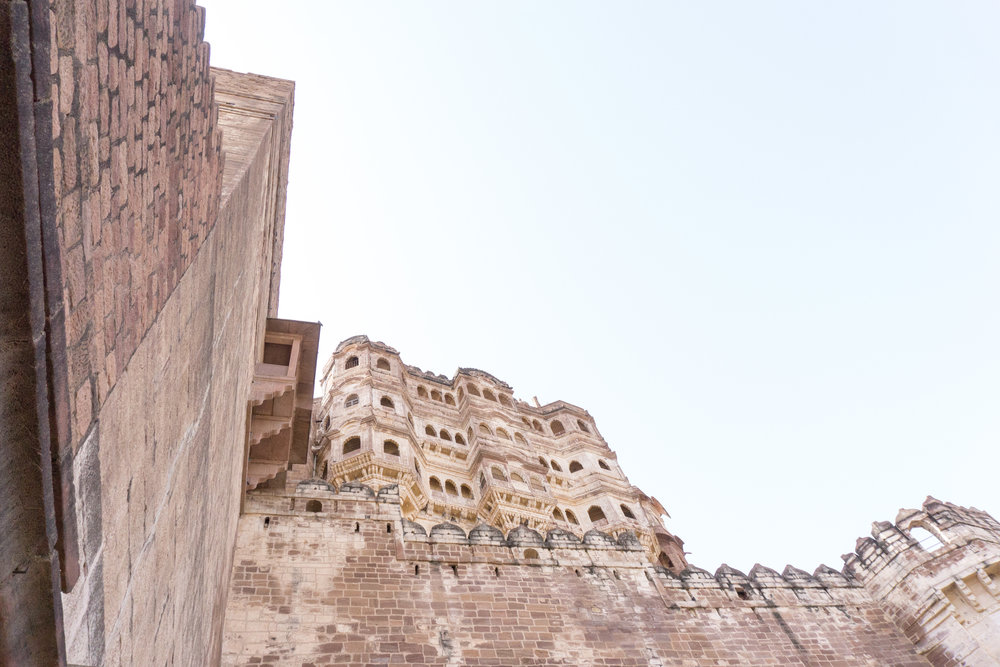 Mehrangarh Fort from the bottom
