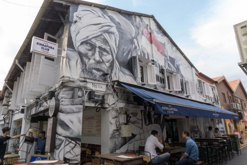 More street art around Hajji Lane