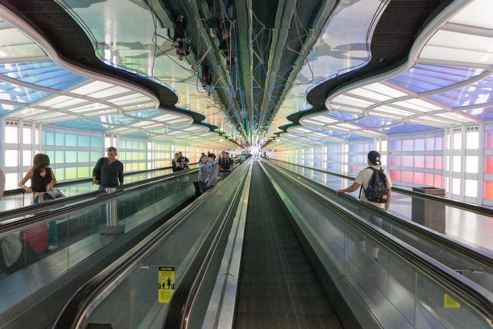 Walkway to concourse C