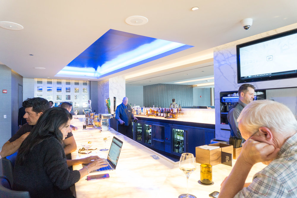 Bar inside the lounge