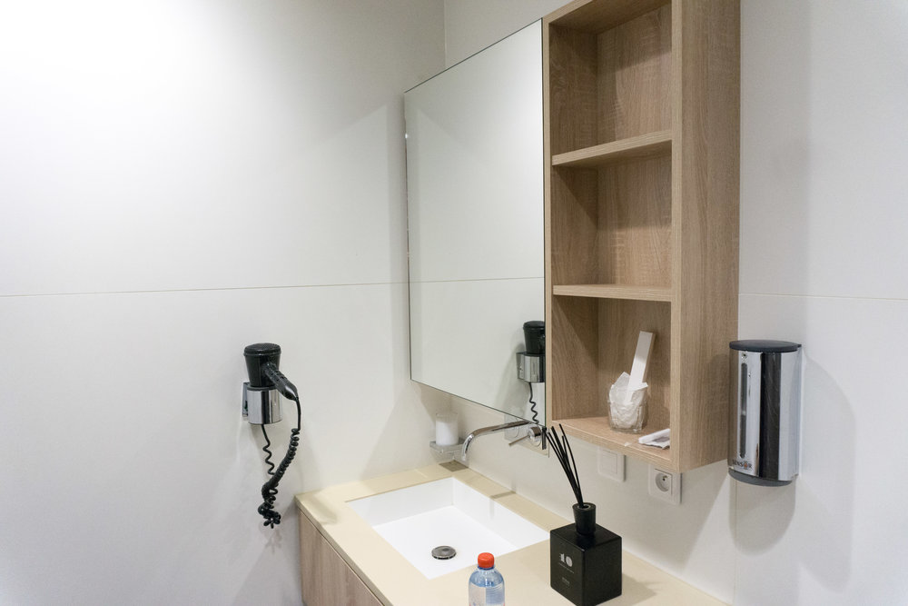 Sink and private shower room