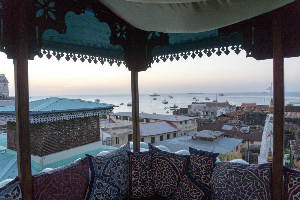 View from Emerson on Hurumzi Tea House