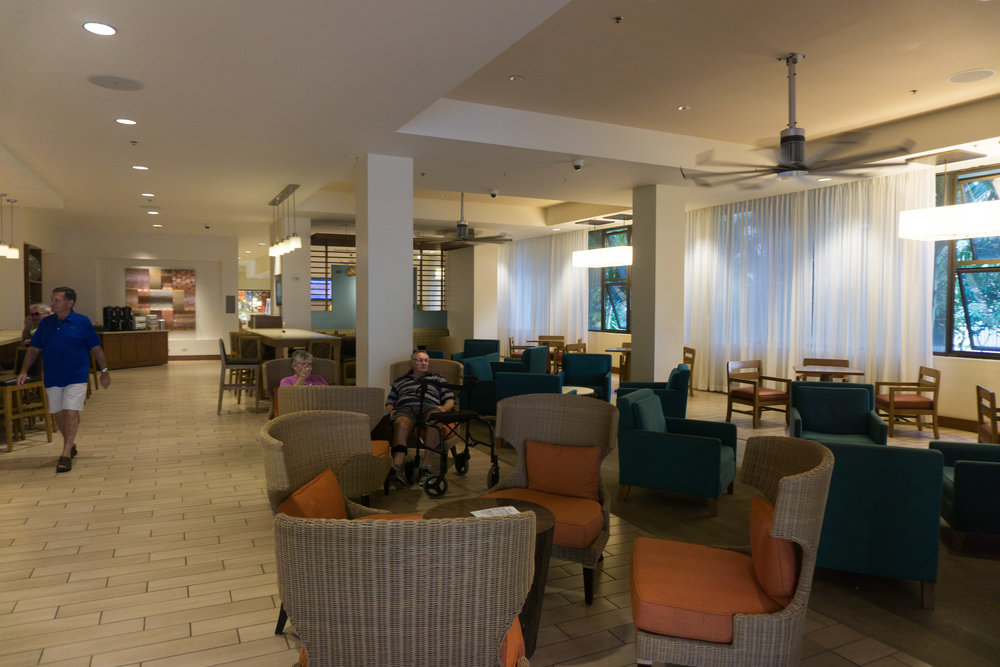 Lounge and cafe area in the lobby