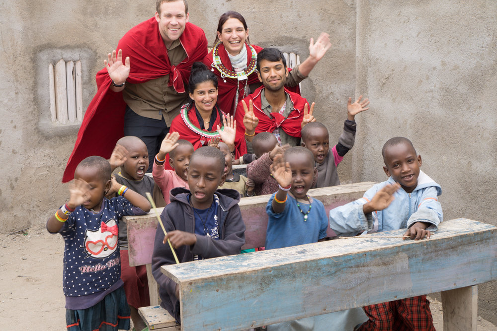 Masai village class visit.