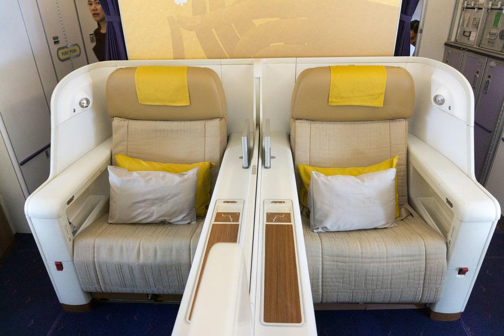 No full door, but pretty comfy seats