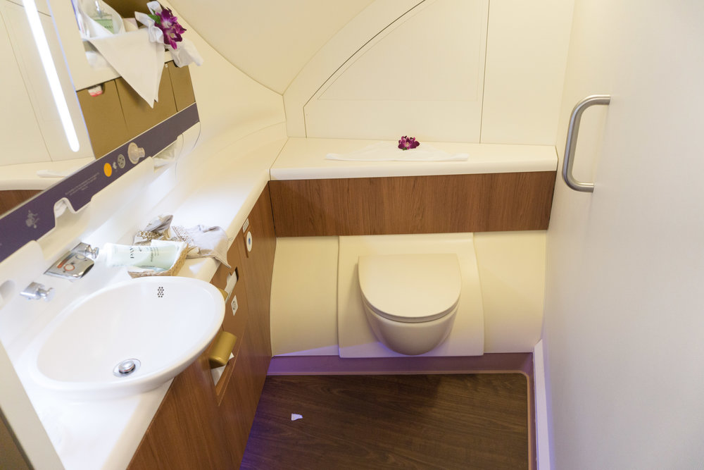 Massive bathrooms - but no shower like Emirates!