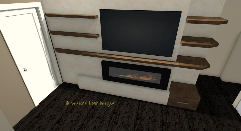 MK Fireplace 3D View 2