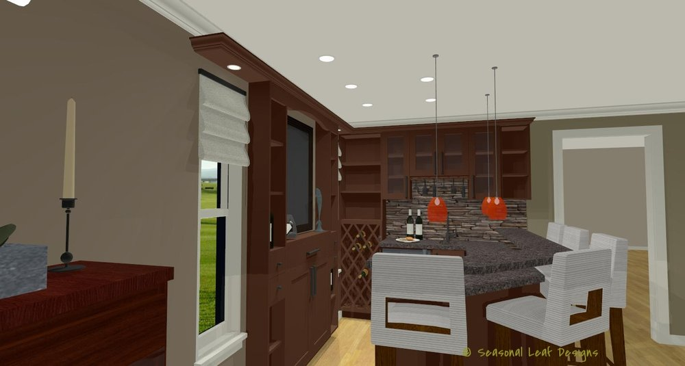 RD Bar Area 3D View 2