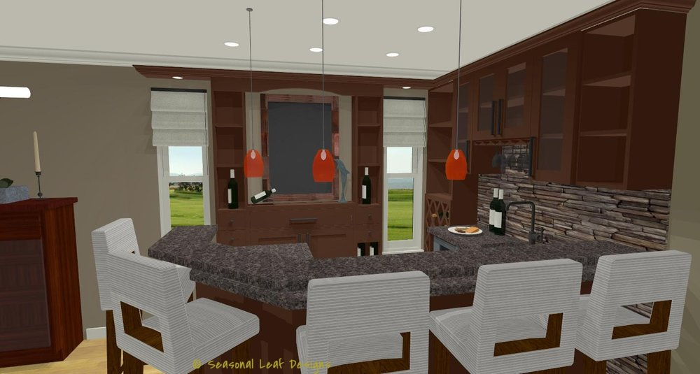 RD Bar Area 3D View 3