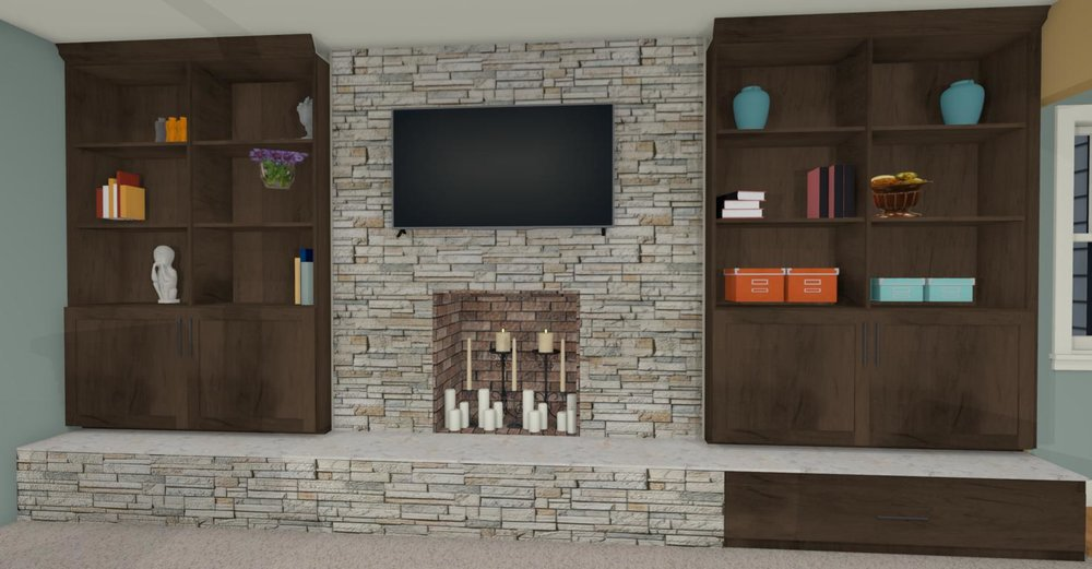 Fireplace Wall View 2