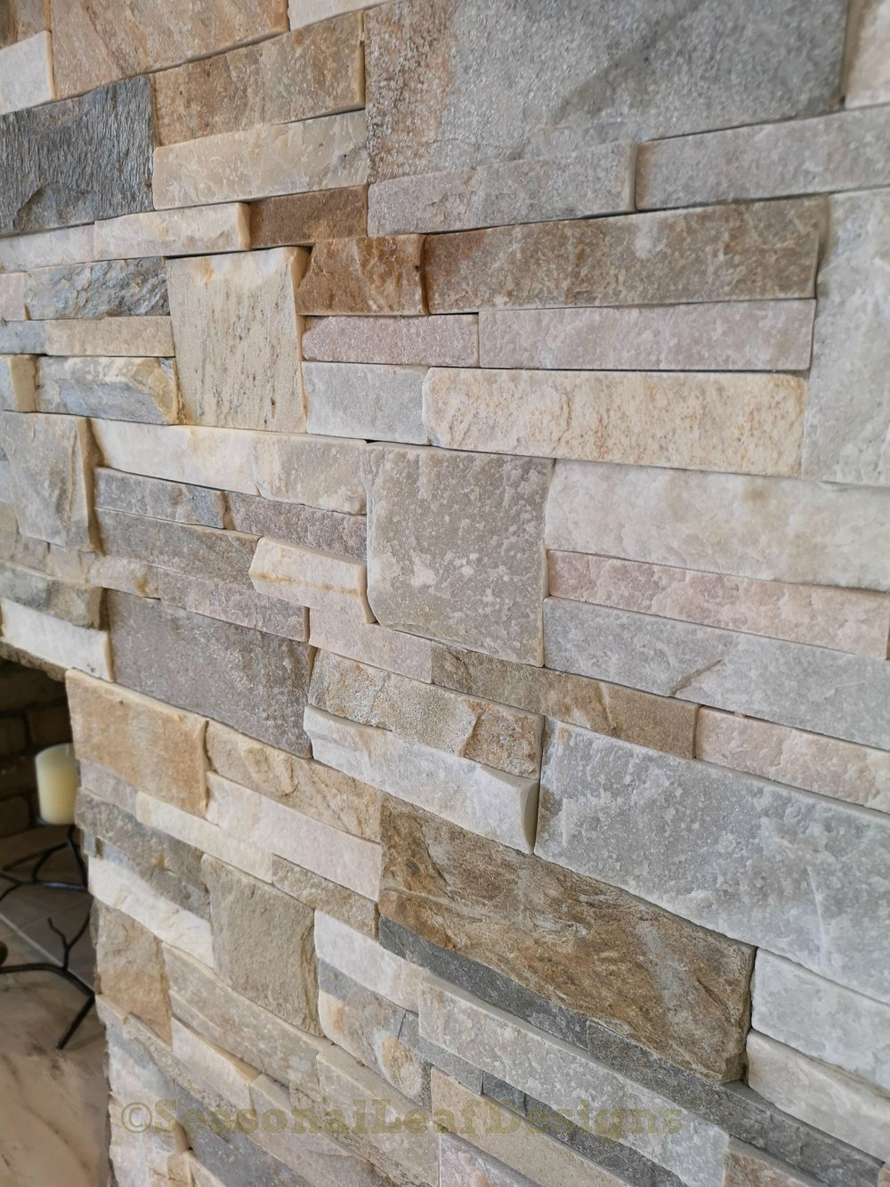 Fireplace Wall Stone details