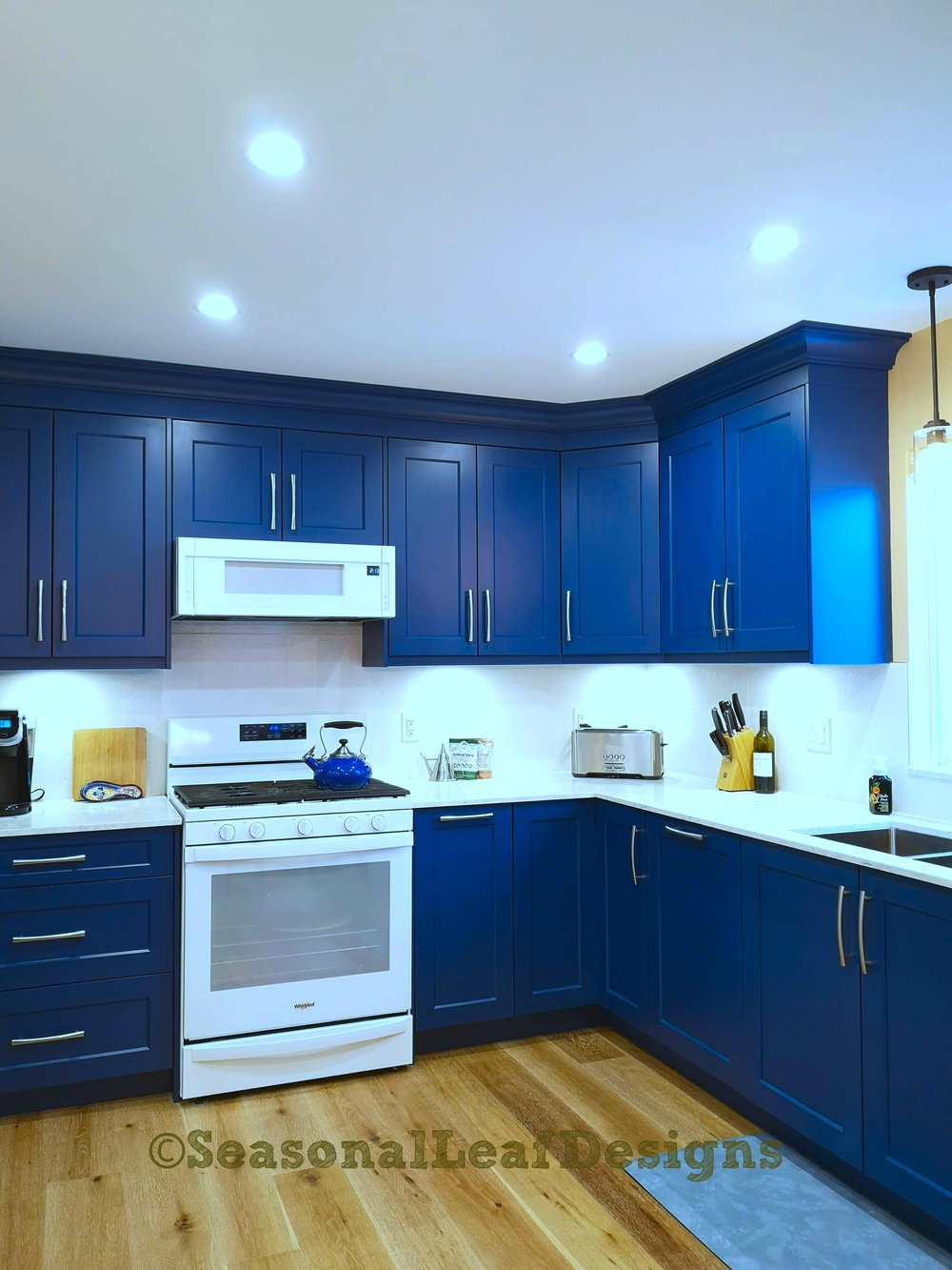 Kitchen Design Blue Cabinets