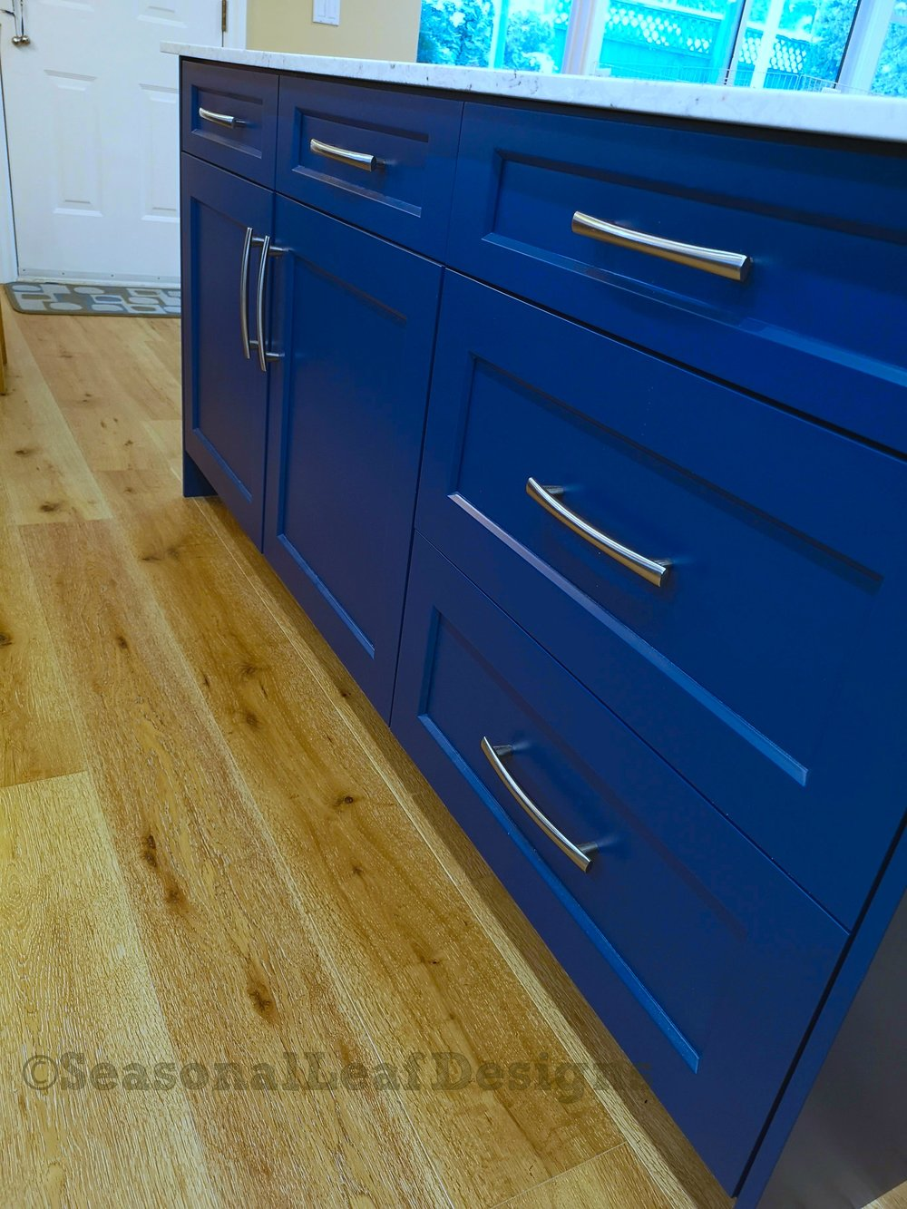 Kitchen Design Blue Shaker Drawers