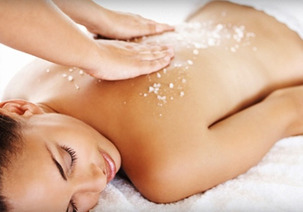 Detoxifying Seasalt Body Scrub Treatment   With high concentrations of minerals and trace elements, sea salt reduces skin and rheumatic disorders. The rich minerals also restore moisture to the skin cells while removing dead skin cells- resulting in supple, glowing skin after the treatment.